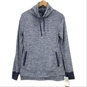 NWT Apana Yoga Mock Neck Heather Pullover Sweater